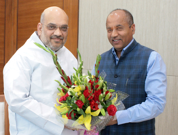 ChiefMinister Shri Jai Ram Thakur calling onBJP National President Shri Amit Shah