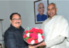 J. P. Nadda calls on Governor