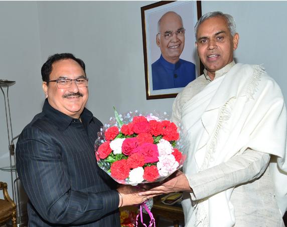 J. P. Nadda calls on Governor