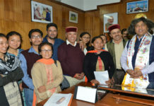 Dr. Ram Lal Markandacalls on theChief Minister Shi Jai Ram Thakur at Shimla