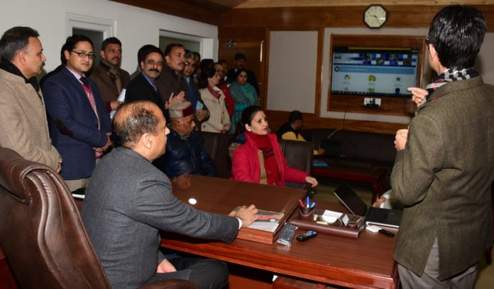 LAUNCHING OF ON LINE APPLICATION PORTAL MC SHIMLA TODAY