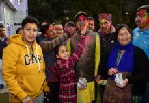 CM Celebrates Holi