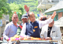 Chief Minister Jai Ram Thakur today addressed a public meeting at Ani in Kullu