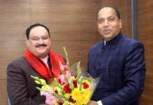 Chief Minister Sh Jairam Thakur called on Sh JP Nadda