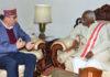 Health Minister Vipin Singh Parmar called on Governor Bandaru Dattatraya at Raj Bhawan Shimla