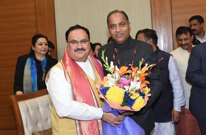 CM congratulates Jagat Prakash Nadda on becoming National President of BJP