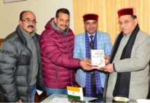Education Minister releases book authored by Dr. Inder Singh Thakur