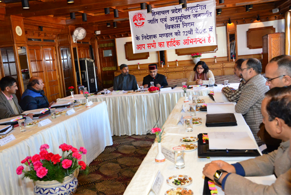 Meeting of BoD of SC and ST Development Corporation organised