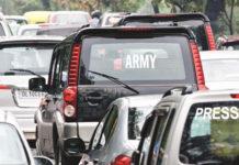 No VIP symbols on vehicles