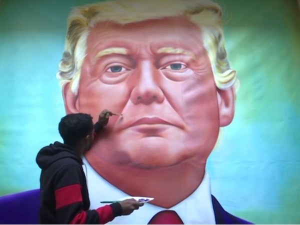 Amritsar artist creates painting of Donald Trump ahead of US President's visit