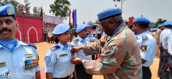 UN medal awarded to woman BSF constable
