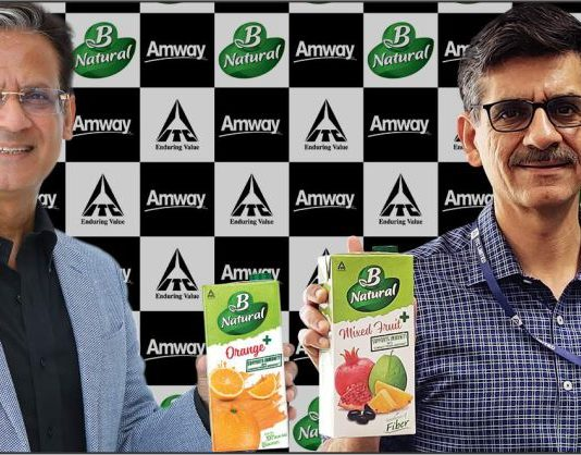 B Natural + Range launch by ITC's B Natural and Amway India