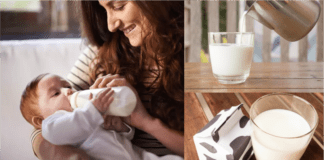 From what age and how should the infant feed cow's milk