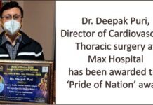 Max doctor gets Pride of Nation award during Shan-e-Hindustan Awards