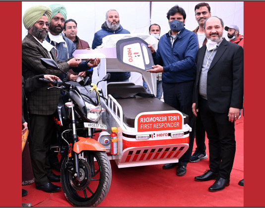 Hero MotoCorp donates First Responder Vehicle to Hoshiarpur health authorities