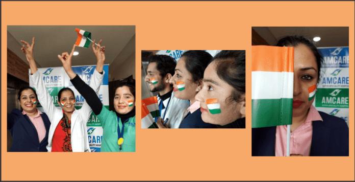 Republic day celebrated at Amcare Hospital, Zirakpur