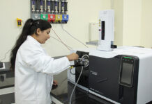 LPU student doing research work in a lab (file photo).